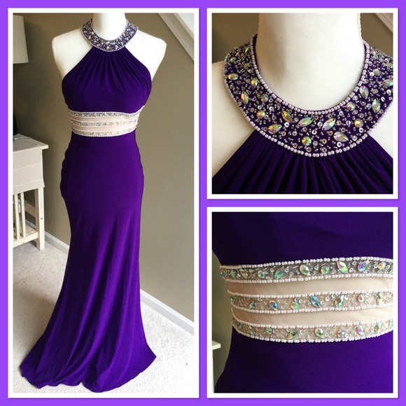 Blondie Nites Dresses | Stunning Sz 1 Purple Evening Gown By | Poshmark